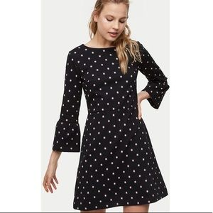 LOFT Bloom Knit Bell Sleeve Dress